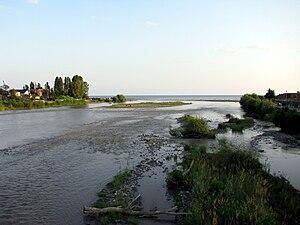 Mzymta River - Mzymta emptying into the Black Sea