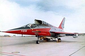 North American F-107 - Image: NAA XF 107A