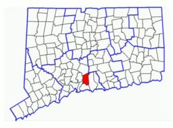 Location in Connecticut