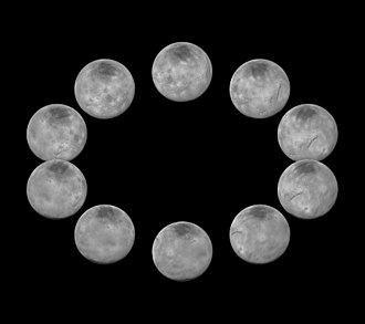 Charon (moon) - Mosaic of best-resolution images of Charon from different angles