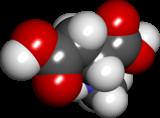 Spacefill-modelo de N-methyl-D-aspartic-acido