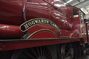 GWR 4900 Class 5972 Olton Hall - No. 5972 in the National Railway Museum with Hogwarts Castle name plates