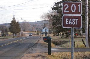 Nova Scotia Route 201 - View of Route 201 outside Bridgetown.