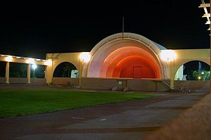 Napier, New Zealand - Sound Shell (1931) in Napier at night.
