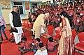 Narendra Modi interacting with specially abled children, at Saksham Education City, Jawanga, Dantewada, in Chhattisgarh on May 09, 2015. The Chief Minister of Chhattisgarh, Dr. Raman Singh is also seen.jpg