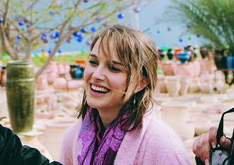 Natalie Portman - On the set of Free Zone, 2005