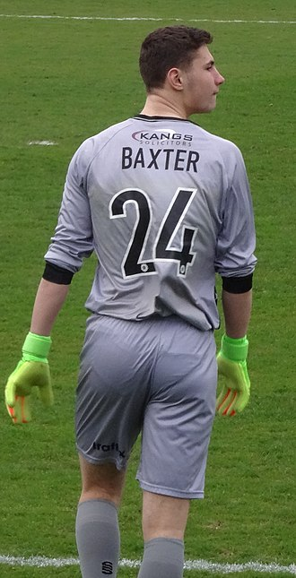 Nathan Baxter (footballer) - Baxter playing for Solihull Moors in 2017