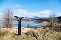 National Cycle Network mile marker at Loch Dee - panoramio.jpg