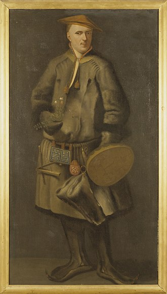 Human taxonomy - 1737 painting of Carl von Linné wearing a traditional Sami costume, sometimes named as the lectotype of both H. sapiens and H. s. sapiens.