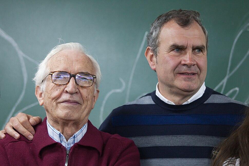 Neira Vilas e Carlos Loureiro no IES M. G. Barros