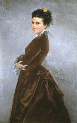 Nélie Jacquemart - Self portrait
