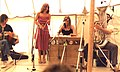 New Victory Band, UK folk artists on stage, Towersey, 1980.jpg