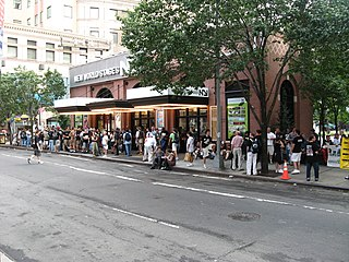 New World Stages movie theater in Clinton (Hells Kitchen), Manhattan, New York City, United States