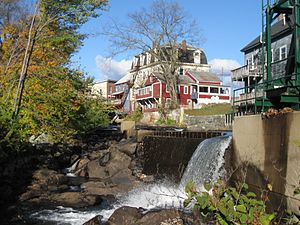 Bristol, New Hampshire - The Newfound River descending from the town center