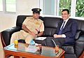 Nigel Cumberland with the Head of the Dubai Police Academy, Dr. Brigadier Ghaith Alsuwaidi.JPG