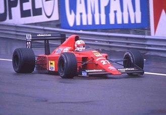 Ferrari 640 - Image: Nigel Mansell 1989 Belgian GP 3