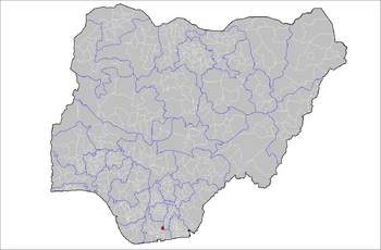 LGA location in Nigeria (highlighted in red)