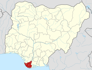 English: Map locator of Nigeria.