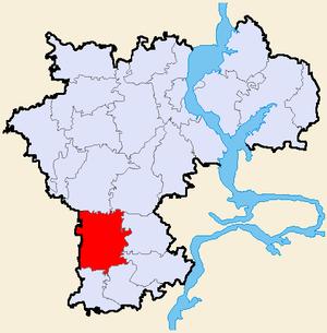 Рис. 1. Карта-схема почвенно-экологического районирования Ульяновской области.