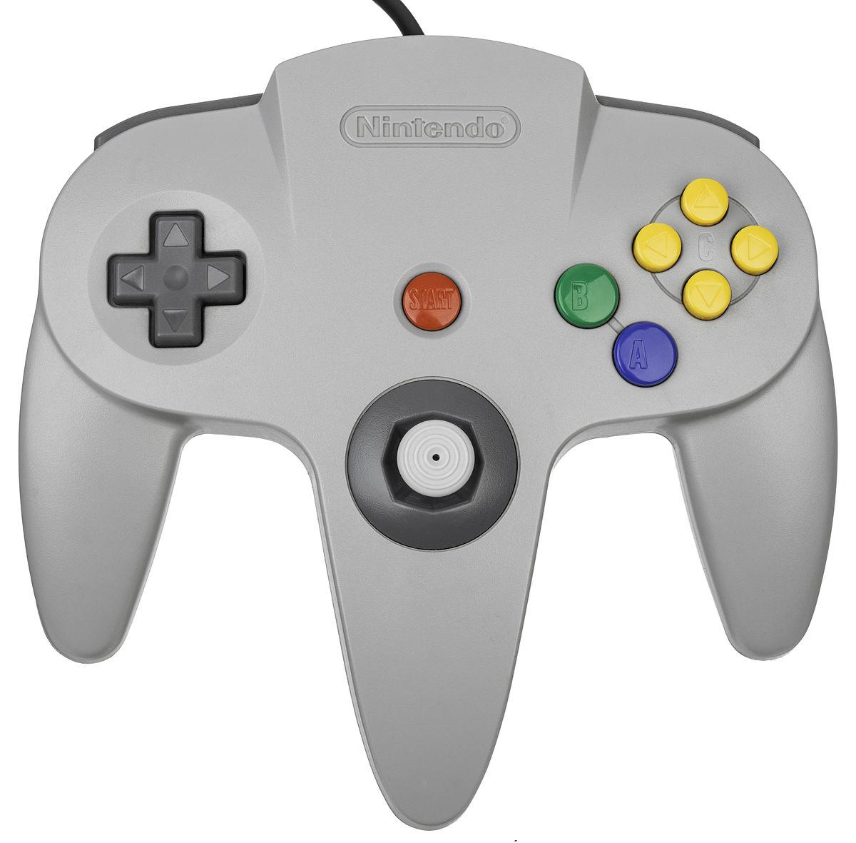File:Nintendo-64-Controller-Gray-Flat.jpg - Wikimedia Commons