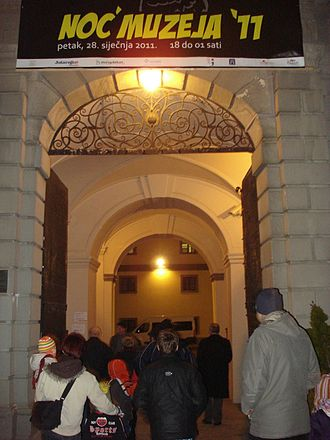 Long Night of Museums - The entrance to Night of Museums in The Međimurje County Museum in Čakovec, Croatia (2011)