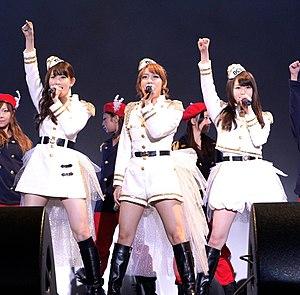 No3b - no3b performing Kirigirisu Jin at Differ Ariake Arena, 2013. L-R: Kojima, Takahashi, Minegishi