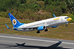 Nok Air - Nok Air Boeing 737-800, Phuket International Airport.