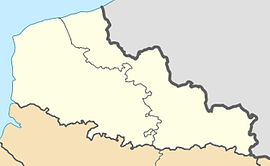HoutkerqueHoutkerque in the arrondissement of Dunkirk trên bản đồ Nord-Pas-de-Calais