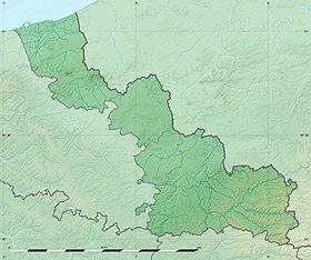 Voir sur la carte topographique du Nord