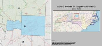 6e district du Congrès de Caroline du Nord (depuis 2021).png