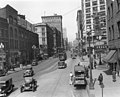 Northern view of 2nd Ave from Washington St, Seattle, Washington, April 11, 1930 (LEE 273).jpg