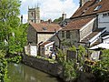 Nunney Brook and village - geograph.org.uk - 1323584.jpg