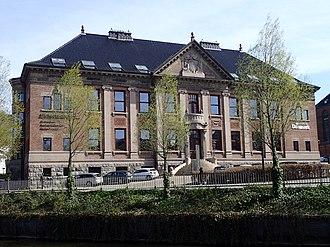 "Åboulevarden - ""Ny jydske Kjøbstad-Creditforening"", a credit union headquarters, from 1912"