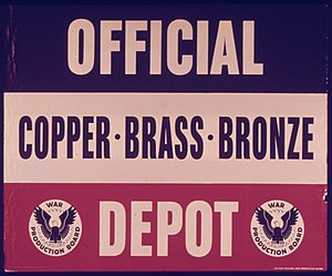 War Production Board - Image: OFFICIAL DEPOT COPPER BRASS BRONZE NARA 515101