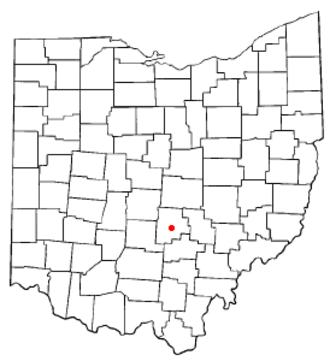 Lancaster, Ohio - Image: OH Map doton Lancaster