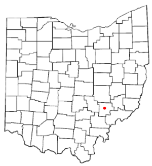 McConnelsville, Ohio - Image: OH Map doton Mc Connelsville