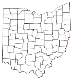 Location of Mingo Junction, Ohio