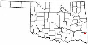 Smithville, Oklahoma - Image: OK Map doton Smithville