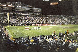 2002 Oakland Raiders season - Oakland–Alameda County Coliseum during the Raiders' week 17 win over Kansas City