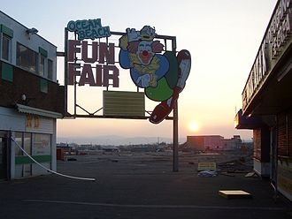 Rhyl - Former Ocean Beach Funfair site (December 2007)