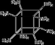 Strukturformel von Octanitrocuban