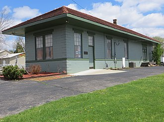 Louisville, Henderson, and St. Louis Railroad Depot - Image: Ohio County KY Fordsville depot obl