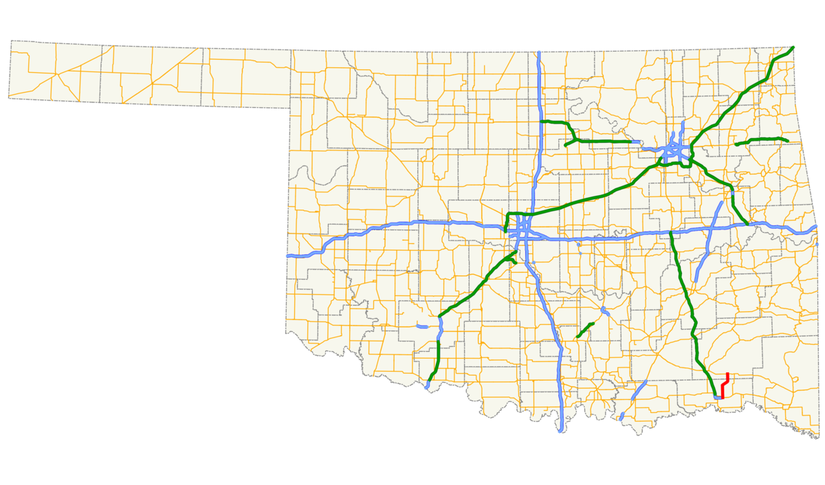 Oklahoma State Highway Wikipedia - Us highway 81 map