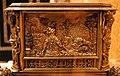 Olanda, orologio da tavolo orizzontale con placchette da disegni di maerten van hemskerck, 1580 ca. 03.jpg