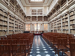 University of Cagliari - Old library hall of the University of Cagliari.
