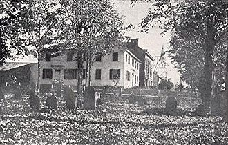 Hopkinton, New Hampshire - Oldest part of Hopkinton village cemetery, as seen in 1901