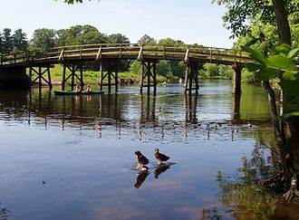 National Register of Historic Places listings in Middlesex County, Massachusetts - Image: Old North Bridge, Concord, Massachusetts, July 2005