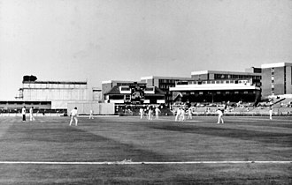 Leslie Hylton - Old Trafford, Manchester, where Hylton played the last of his six Test matches (the ground has since been completely redeveloped)