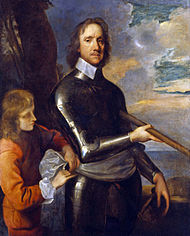 Cromwell as a general around 1649;  Painting by Robert Walker