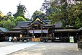 Omiwa Shrine, Haiden (Worship Hall) -1 (May 2016) - panoramio.jpg